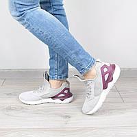 Кроссовки женские Adidas серые с фиолетовым, обувь 2017