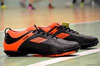 Сороконожки футзалки бампы для футбола Razor черные с оранжевым (Код: 330) Только 46р!, фото 1