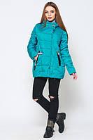 Женская  демисезонная бирюзовая  куртка Диана   Leo Pride 42-50 размеры