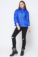 Женская  демисезонная куртка Джеки электрик  Leo Pride 42-50 размеры