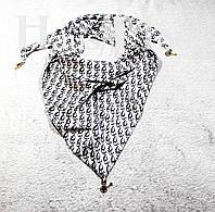 Женская атласная косынка принт Dior  Cтальной