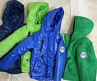 Детские весенние куртки-парки для мальчиков возраст 1-8 лет