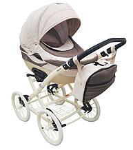Универсальная коляска 2 в 1 «BabyPark» Country, цвет бежевий лен (C1401)