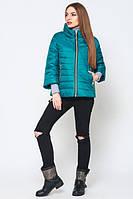Женская  демисезонная бирюзовая куртка Джеки    Leo Pride 42-50 размеры