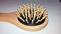 Расчёска массажная деревянная (круглая, средняя)