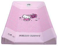 Пеленальная доска Hello Kitty с подголовником розовая, Maltex