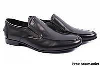 Мужские туфли Basconi натуральная кожа черные