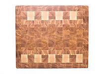 Кухонная торцевая разделочная доска 43х37х5 см из ясеня 1037