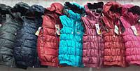 Модные и практичные детские демисезонные жилетки с капюшоном подкладка трикотаж 5-9 лет девочкам и мальчикам