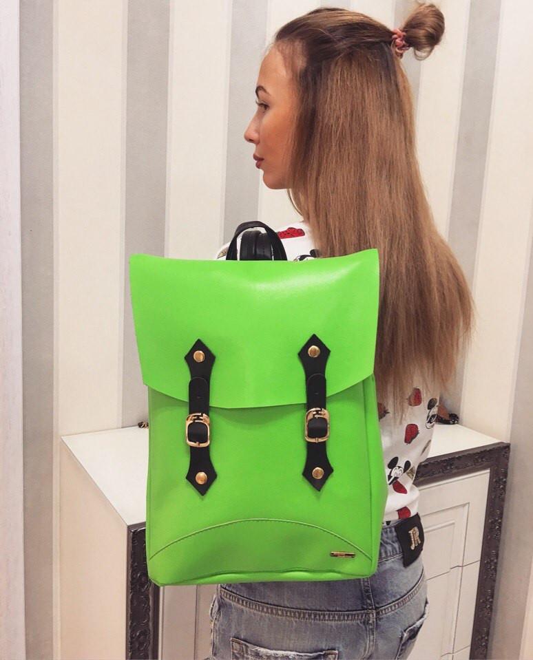 Рюкзак женский модный кожа