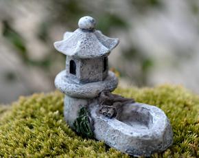 Кормушка - поилка Дом Монаха  для Муравьиной Фермы ( микро декор, малый декор, арт декор, декор для вазонов ) - Магазин Кошара в Киеве