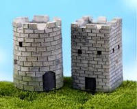 Башня декор  для Муравьиной Фермы гипс квадратная, круглая