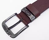 Коричневый кожаный мужской ремень Lacoste, фото 5
