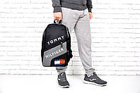 Рюкзак спортивный Томи Хилфигер чёрно серый