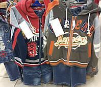 Детские весенние джинсовые костюмы для мальчиков 1-8 лет