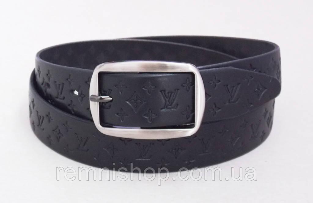 Чорний жіночий шкіряний ремінь Louis Vuitton