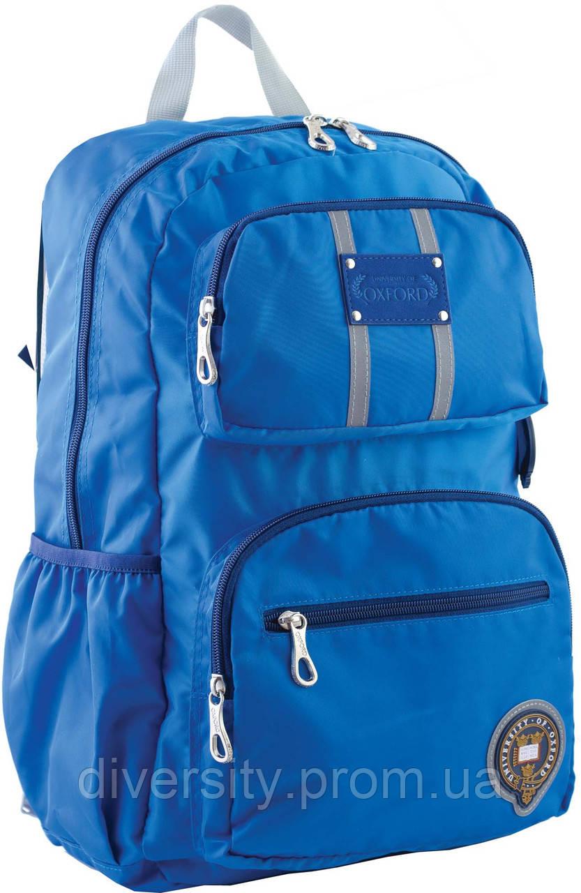 Ранец подростковый OX 334, голубой, 29*45.5*15