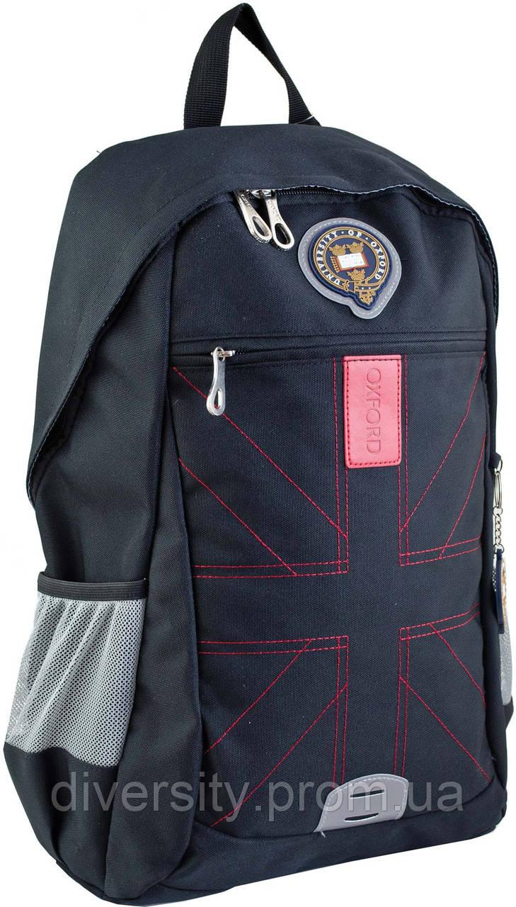 Ранец подростковый OX 316, черный, 30.5*46.5*15.5