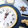 Часы с морской тематикой в виде штурвала 009KB, фото 3