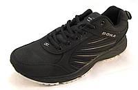 Кроссовки мужские BONA  кожаные, черные (Бона)(р.41,42,43)