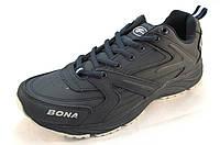 Кроссовки мужские BONA  кожаные, синие (Бона)(р.41,43)