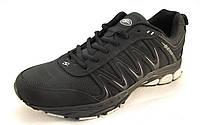 Кроссовки мужские BONA кожаные черные, (Бона)(р.47,48,49,50)