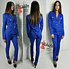 Костюм женский пиджак на подкладке и брюки мемори-коттон 3 цвета Df280