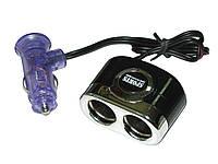Двойник в прикуриватель 205BK/CH с проводом Разветвители для прикуривателя