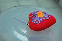 Брелочек валентинка сердце  с подвесочкой