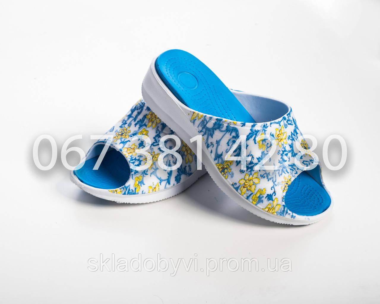 Шлепанцы летние женские оптом DG 14022 синий
