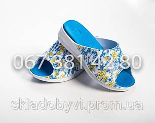 Шлепанцы летние женские оптом DG 14022 синий, фото 2