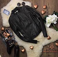 Стильная кожаная курточка холодного шоколадного оттенка с мерцающим отливом