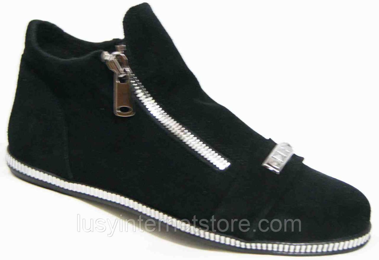 Ботинки женские замша большого размера от производителя модель МИ5261