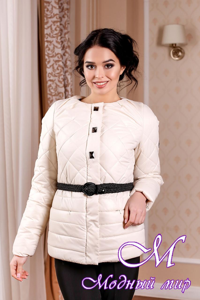 Молодіжна жіноча демісезонна куртка кольору молоко батал (р. 44-54) арт. 960 Тон 25