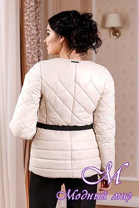 Молодежная демисезонная женская куртка цвета молоко батал (р. 44-54) арт. 960 Тон 25, фото 2