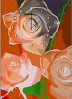 "Картина-часы (50х70 см) ""Розы"""