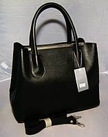 Женская сумка-шопер Voila чёрная кожзам