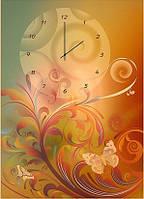 """Картина-часы (50х70 см) """"Растительный рисунок"""""""