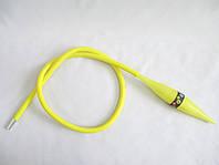 Превосходный силиконовый шланг для кальяна с охлаждением! Желтый