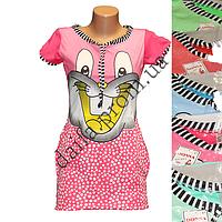 Молодежная котоновая ночная рубашка 17 оптом со склада в Одессе.