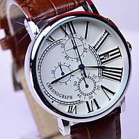 Часы мужские ROBAOGAR Silver с хронографом и датой