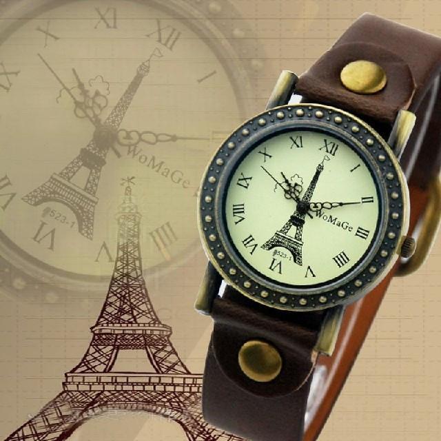 Часы женские Paris Vintage brown (коричневый)