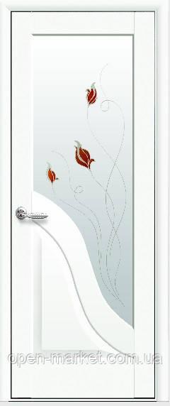 Модель Амата белый матовый стекло Р1 межкомнатные двери, Николаев