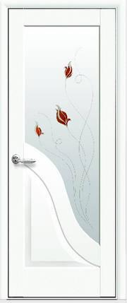 Модель Амата белый матовый стекло Р1 межкомнатные двери, Николаев, фото 2