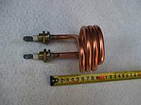 Тэн медный 2,5кВт (2500w) на 220 в, для дистилятора с латуневыми  штуцерами-16 мм.
