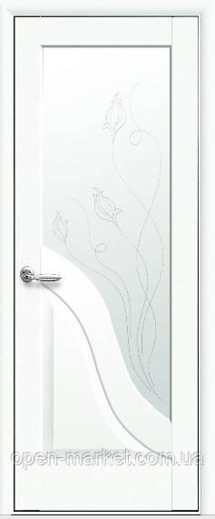 Модель Амата білий матовий скло Р2 міжкімнатні двері, Миколаїв
