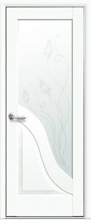 Модель Амата белый матовый стекло Р2 межкомнатные двери, Николаев, фото 2
