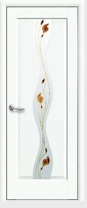 Модель Волна белый матовый стекло Р1 межкомнатные двери, Николаев, фото 2