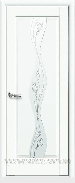 Модель Волна белый матовый стекло Р2 межкомнатные двери, Николаев