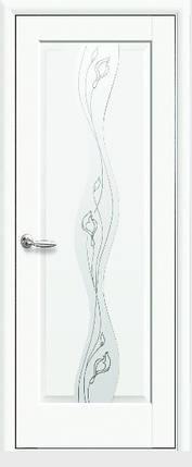 Модель Волна белый матовый стекло Р2 межкомнатные двери, Николаев, фото 2